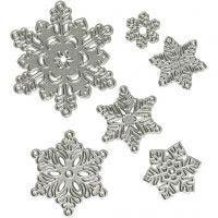 Skæreskabelon, snefnug, diam. 2-6 cm, 1 stk.