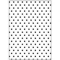 Prægeskabelon, polka prikker, str. 13x18,5 cm, tykkelse 2 mm, 1 stk.