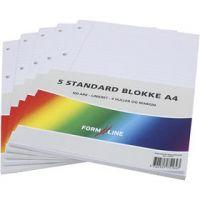 formline blokke A4, linieret, 100 , 60 g, 5 stk./ 1 pk.