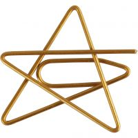 Klips, stjerne, str. 30x30 mm, guld, 6 stk./ 1 pk.