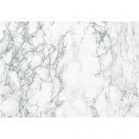 Selvklæbende folie, marmor, B: 45 cm, grå, 2 m/ 1 rl.