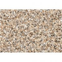 Selvklæbende folie, grov granit, B: 45 cm, brun, 2 m/ 1 rl.