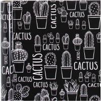 Gavepapir, kaktus, B: 50 cm, 80 g, 5 m/ 1 rl.