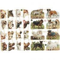 Glansbilleder, hunde, 16,5x23,5 cm, 2 ark/ 1 pk.