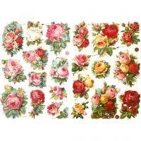 Glansbilleder, rosenmix, 16,5x23,5 cm, 2 ark/ 1 pk.