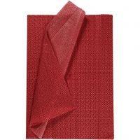 Silkepapir, 50x70 cm, 17 g, rød, 6 ark/ 1 pk.