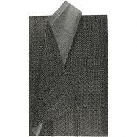 Silkepapir, 50x70 cm, 17 g, sort, 6 ark/ 1 pk.