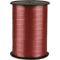 Gavebånd, B: 10 mm, blank, rubin, 250 m/ 1 rl.
