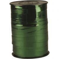 Gavebånd, B: 10 mm, blank, metal grøn, 250 m/ 1 rl.
