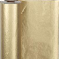 Gavepapir, B: 50 cm, 60 g, guld, 100 m/ 1 rl.