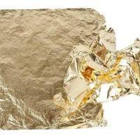 Bladmetal, 16x16 cm, guld, 25 ark/ 1 pk., 0,625 m2