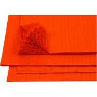 Harmonikapapir, 28x17,8 cm, orange, 8 ark/ 1 pk.