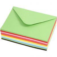 Kuverter, kuvert str. 11,5x16 cm, 80 g, 10x10 stk./ 1 pk.