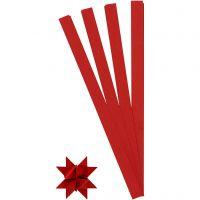 Stjernestrimler, L: 45 cm, diam. 6,5 cm, B: 15 mm, rød, 100 strimler/ 1 pk.