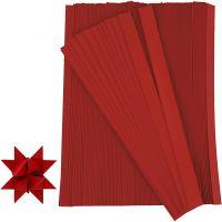 Stjernestrimler, L: 45 cm, diam. 6,5 cm, B: 15 mm, rød, 500 strimler/ 1 pk.