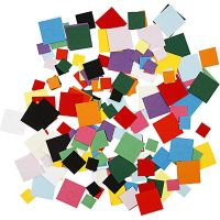 Kartonmosaik, kvadratisk, str. 10+15+20 mm, 180 g/ 1 pk.