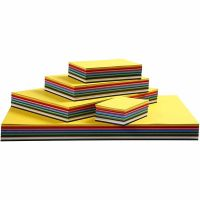 Creativ karton, A3,A4,A5,A6, 180 g, ass. farver, 1500 ass. ark/ 1 pk.