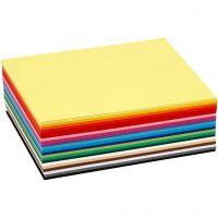 Creativ karton, A6, 105x148 mm, 180 g, ass. farver, 120 ass. ark/ 1 pk.