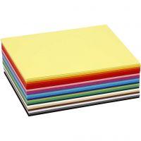 Creativ karton, A6, 105x148 mm, 180 g, ass. farver, 300 ass. ark/ 1 pk.