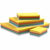 Forårskarton, A3,A4,A5,A6, 180 g, ass. farver, 1500 ass. ark/ 1 pk.