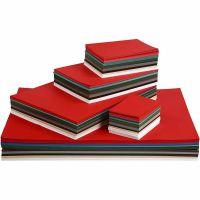 Julekarton, A2,A3,A4,A5,A6, 180 g, ass. farver, 1800 ass. ark/ 1 pk.