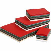 Julekarton, A3,A4,A5,A6, 180 g, ass. farver, 1500 ass. ark/ 1 pk.