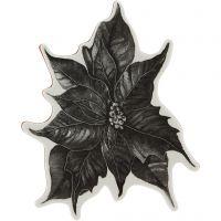 Gummistempel, julestjerne, H: 5 mm, str. 14x11 cm, 1 ark