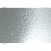 Metalkarton, A4, 210x297 mm, 280 g, sølv, 10 ark/ 1 pk.