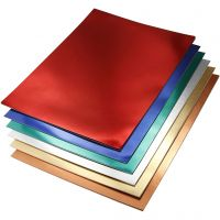 Metalkarton, A4, 210x297 mm, 280 g, ass. farver, 30 ass. ark/ 1 pk.