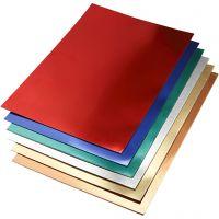Metalkarton, A2, 420x600 mm, 280 g, ass. farver, 30 ass. ark/ 1 pk.