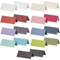Bordkort, str. 9x4 cm, Indhold kan variere, 250 g, ass. farver, 30 pk./ 1 pk.