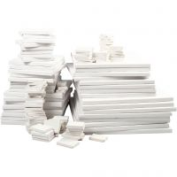 Malerlærreder, dybde 2 cm, hvid, 300 stk./ 1 pk.