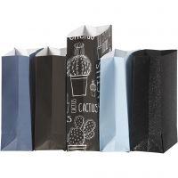 Papirposer, H: 21 cm, str. 6x9 cm, 80 g, 5x10 pk./ 1 pk.