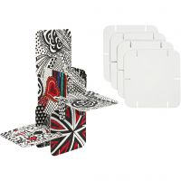 Pusle konstruktionsbrikker, str. 9,3x9,3 cm, hvid, 20 stk./ 1 pk.