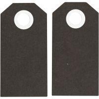 Manilamærker, str. 6x3 cm, 250 g, sort, 20 stk./ 1 pk.