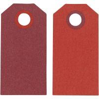 Manilamærker, str. 6x3 cm, 250 g, vinrød/rød, 20 stk./ 1 pk.