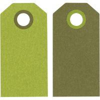 Manilamærker, str. 6x3 cm, 250 g, lime/mørk grøn, 20 stk./ 1 pk.