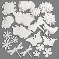 Sommerfigurer, str. 4,5-12 cm, 240 g, hvid, 362 stk./ 1 pk.