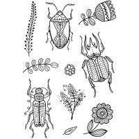 Silikonestempler, insekter, 11x15,5 cm, 1 ark