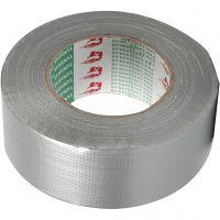 Lærredstape, B: 50 mm, sølv, 50 m/ 1 rl.