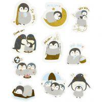 Washi stickers, pingviner, str. 40-53 mm, 30 stk./ 1 pk.