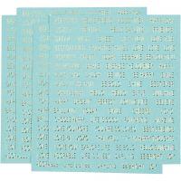 Stickers, 10x11,5 cm, turkis, 4 stk./ 1 pk.