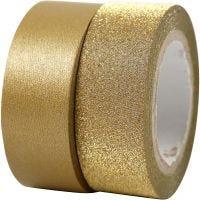 Designtape, B: 15 mm, guld, 2 rl./ 1 pk.