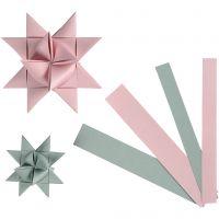 Stjernestrimler, B: 15+25 mm, diam. 6,5+11,5 cm, 60 strimler/ 1 pk.