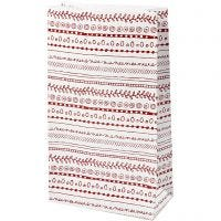 Papirposer, doodles, H: 21 cm, str. 6x12 cm, 8 stk./ 1 pk.