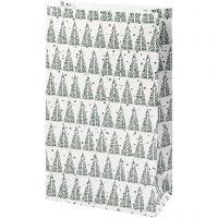 Papirposer, grantræ, H: 21 cm, str. 6x12 cm, 8 stk./ 1 pk.