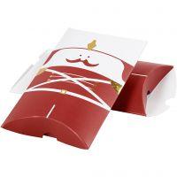 Gaveæske, nøddeknækker, str. 14,9x9,4x2,5 cm, 300 g, guld, rød, hvid, 3 stk./ 1 pk.