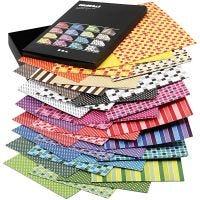 Color Bar rivekarton, A4, 210x297 mm, 250 g, ass. farver, 16x10 ark/ 1 pk.