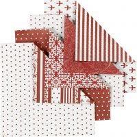 Origamipapir, str. 10x10 cm, 80 g, 50 ass. ark/ 1 pk.