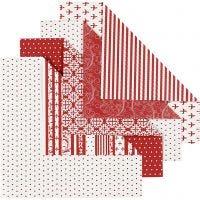Origamipapir, str. 15x15 cm, 80 g, 50 ass. ark/ 1 pk.